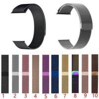 magnetschlaufe apfel uhrenarmband großhandel-Edelstahl Metallschlaufe Smart Uhrenarmband für Apple Watch 44 mm / 42 mm / 40 mm / 38 mm iwatch Serie 4 3 2 Magnetisches verstellbares Armband