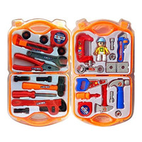 Wholesale children s tool set resale online - Repair Tool Toy Children s Simulation Boy Toolbox Set Play House Show Random Color