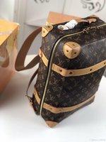 brauner rucksack großhandel-44752 36 28 14 Petite Malle Tragetasche Damier Brown M knapsack Größe:: ** cm