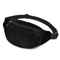 ingrosso portafogli perline-Donne Petto Portafoglio pacchetto di Fanny Hip borsa del telefono Beads Zipper casuale pacchetto di moda della stampa del leopardo della peluche del sacchetto della vita elegante