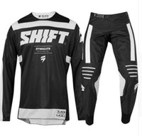 Wholesale mx clothes online - 2019 Mexico Endless Shift lack Motocross Jersey And Pant RED GOLD ATV BMX Moto Gear Set Motorcycle Clothing MX Combo D