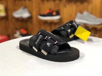 Wholesale red silk slippers for sale - Group buy Hot Sale New Arrived Top Quality Masterminds x Suicoke CLOTX Summer Trip Fest Black silk Sole Sandal Slides Slippers