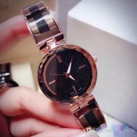 Wholesale surface wristwatches for sale - Group buy New Model Fashion Women Watch Rose gold stainless Steel Starry surface Dial Luxury Lady Wristwatch Classic Quartz Relojes De Marca Mujer