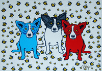Wholesale paint cans resale online - George Rodrigue Blue Dog Oh Say Can You See Home Decor Handpainted HD Print Oil Painting On Canvas Wall Art Canvas Pictures