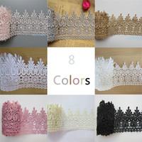 ремесленные ткани оптовых-1 Двор Венеция Цветочные Кружевной Ленты Отделка Края 9 см Широкий Винтажный Стиль 8 Цвет Края для Швейных Craft Свадебное Платье DIY
