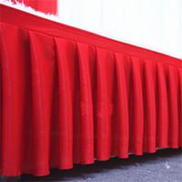 eis seide hochzeit großhandel-Ice Silk Tisch Rock Hochzeit Kulisse Vorhänge für Tischdecken Hochzeit Bühne Sockel für Event-Party