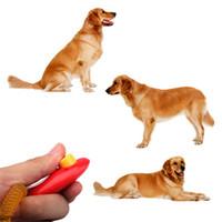 uzak hayvan eğitimi toptan satış-Yeni Hayvan Pet Eğitim Clicker Yardım Bilek Kayışı Eğitim Araçları Evrensel Uzaktan Taşınabilir Hayvan Köpek Düğme Clicker Ses Trainer Pet aracı