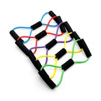 ingrosso cintura di corda di yoga-8 Fasce di resistenza sagomate Tensionamento elastico Corda durevole Expander petto Expander Sport Yoga Fitness Pilates Belt Forma del corpo Assistenza sanitaria