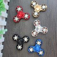 Wholesale fidget spinner colors for sale - Group buy 5 Colors Steel Ball Fidget Hand Spinner Fingertip Finger Gyro Alloy Cube For Autism ADHD Rotation Long Spin Time Anti Stress Toys