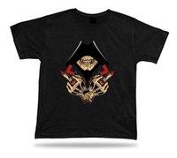 лучшие кольца дизайн для женщин оптовых-Скелет череп капот рука знак сглаза кольцо стильный дизайн футболки лучший подарок мужчины женщины мужская мода футболка Бесплатная доставка черный