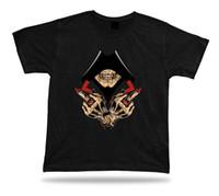 mejores diseños de anillos para las mujeres al por mayor-Skeleton Skull Hood Signo de mano Evil Eye Ring Diseño elegante camiseta mejor regalo Hombres Mujeres Unisex Camiseta de moda Envío gratis negro
