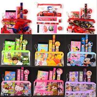 capas de lápis para meninos venda por atacado-Homem-Aranha Kids Pencil Case Papelaria Cute School Supplier Pouch Boy Girls