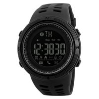 Wholesale electronic steps resale online - Fashion explosion waterproof smart watch Bluetooth photo step electronic watch Call reminder sports luminous men s watch