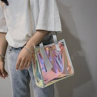 Wholesale large women s handbags for sale - Group buy Aelicy New Brand Women S Handbags Laser Korean Bags Transparent Shoulder Bags Jelly Candy Strap Clear Women Bag