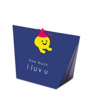 caixas doces da marinha venda por atacado-2019 Azul Marinho Dos Desenhos Animados Mini Presente Doces Caixa De Papel Para Fontes Do Partido, Criativo Doces Dobrável Caixa De Presente De Embalagem