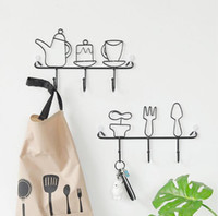 Wholesale decorative metal coatings resale online - Factory direct Creative clothing store metal decorative coat hook Creative home bathroom kitchen wrought iron hook