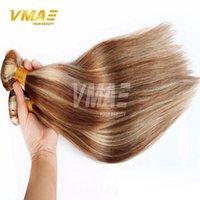 sıcak güzellik insan saçı toptan satış-Perulu Düz karışık renkler 8 # 613 # sarışın Saç 3 Paketler Lot VMAE Saç Uzantıları Sıcak Güzellik Ucuz İnsan Saç Yumuşak arapsaçı Ücretsiz
