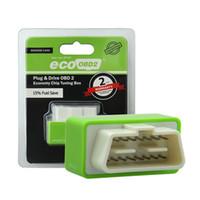 cuadro de tuning obd2 al por mayor-Nitro OBD2 EcoOBD2 ECU Chip Tuning Box Plug para BENZINE Conductor de automóviles NitroOBD2 Eco OBD2 para automóviles 15% Ahorro de combustible