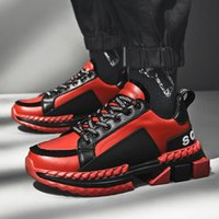 Wholesale streetwear shoes for sale - Group buy Hip Hop Streetwear Chunky Sneakers Men Leather Casual Shoes Men Thick Bottom Fashion EVA Tenis Masculino Adulto SneakersL14