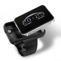 mp4 relógio telefone venda por atacado-I5s smart mobile watch mp3 mp4 player sono monitor de pedômetro construído na câmera gsm sim mini telefone smartwatch para ios android