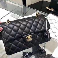 Wholesale gym bag resale online - Double Flap CF Vintage Beige Lambskin Black Quilted Leather Reissue Classic Limited Double Flap Bag Shoulder Bag