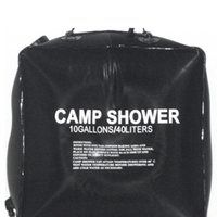 Wholesale outdoor pvc solar showers for sale - Group buy 40L Gallon Camping Hiking Solar Heated Camp Shower Bag Outdoor Shower Water Bag Outdoor Camping Traveling Bathing Water
