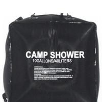 güneşli duşlar toptan satış-40L 10 Galon Kamp Yürüyüş Güneş Isıtmalı Kampı Duş Çanta Açık Duş Su Torbası Açık Kamp Seyahat Yüzme Su