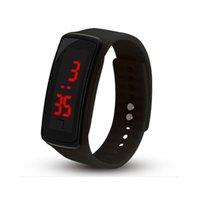mens silikon dijital saat toptan satış-Silikon LED Spor Üst Montre Moda Reloj Mujer Elektronik İzle Dijital saatı Açık İzle Erkek Saatler