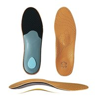 Wholesale flat feet for sale - Group buy Unisex Premium Leather Orthotic insole for Flat foot Shoe Insoles High Arch Support orthopedic Pad for Correction Cowhide Insole