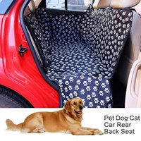 ingrosso sedile posteriore dell'amaca dell'automobile del cane-Pet Carriers Tessuto Oxford Paw Pattern Car Pet Seat Cover Dog Car Sedile Carrier Impermeabile Pet Mat Hammock Protector