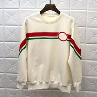sudadera con capucha de calidad negro al por mayor-Sudaderas de diseñador de manga larga camisetas hombre blanco negro con capucha de la marca de moda Top Autumn Spring ropa de lujo de alta calidad suéter S-XL
