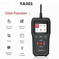 Wholesale YA301 OBDII EOBD Code Reader real Pin USB update With car battery detection function OBD2 Tool