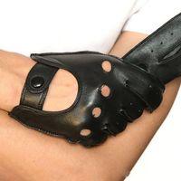 Wholesale glove male resale online - Fashion Genuine Leather Men Gloves Fashion Sheepskin Glove Five Fingers Male Driving Leather Gloves Unlined M023W