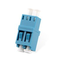 Wholesale lc fiber adapter resale online - 50PCS Duplex Fiber optic Adapter LC couplerLC UPC Fiber flange SC connector
