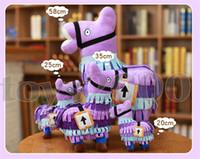 spiele plüsch großhandel-10 cm 20 cm 25 cm 35 cm 58 cm Original Surprise Treasure Box Plüschtiere Troll Stash Lama Alpaka Rainbow Horse Fortnight Game Spielzeug