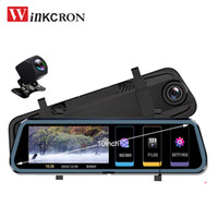 Wholesale player stream for sale - Group buy 10 quot IPS Touch Stream Car DVR Media Rearview Mirror DVR Video Player Full HD P Car Intelligent System Dvrs Dual Camera