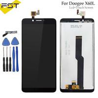 doogee phone venda por atacado-Para doogee x60l display lcd + touch screen assembléia repair parte 5.5 polegada acessórios do telefone para doogee x60l celular parte