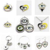 Wholesale bay sports for sale - Group buy US Football Team Green Bay Charms Packers Dangle Charms Sports DIY Bracelet Necklace Pendant Jewelry Hanging Charms