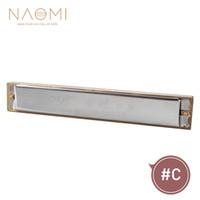 harmonica 24 achat en gros de-Harmonica NAOMI 24 trous 48 tons C-Clé avec épaississement de la boîte Plaque de recouvrement en acier inoxydable Harpe diatonique en laiton Roseau