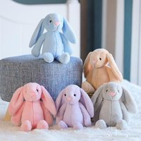Wholesale toy ears resale online - 5 Colors cm Bunny Soft Toys Bunny Doll Easter Rabbit Plush Toy With Long Ears stuffed animals Kids toys Gift