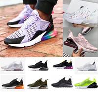 Großhandel 2019 Neue Nike Air Max 270 27C Teal Outdoor Schuhe 2 Sterne Frankreich Herren Herren Flair Triple Schwarz Weiß Trainer Schuh Medium