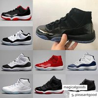 Wholesale prom men white shoes resale online - 11 Blackout Xi Gym Red Midnight Navy Men Basketball Shoes Women Prom Night Bred Black Out Space Jam s Athletic Sport Sneakers