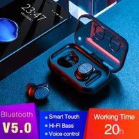 klingt telefonisch großhandel-NEUE Bluetooth-Ohrhörer 5.0 TWS Wireless-Headsets Mini-Kopfhörer HiFi-Sound Sport Wasserdichte HD-Mikrofon-Freisprecheinrichtung für alle Telefon-Bluetooth-Headsets