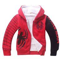 106786ecebe4 Baby Boys Spiderman Fleece Hoodies Kids Winter Warm Cartoon Outerwear  Clothing Children Spider-man Thicken Sweatshirts Coat