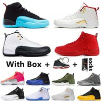 maître du jeu achat en gros de-New FIBA Game Royal 12 12s Mens Basketball Shoes The Master Reverse Taxi Gym Red Dark Grey Ove White Sports Outdoor Shoe