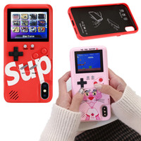 Wholesale 36 Kinds Games Handheld Retro Game Console With Color Display Gameboy Phone Case For iPhone Xs Max s Plus Samsung S10 Huawei Mate