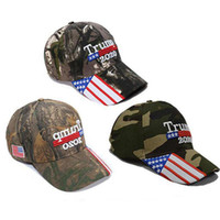 Wholesale cap stars for sale - Group buy Donald Trump Cap USA Stars Flag Camouflage Baseball Cap Keep America Great Hat Embroidery Letter Adjustable Camo Glof Hat HHA363