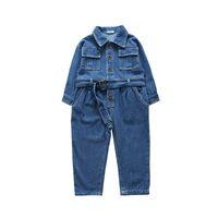 775ec460e259 kid overalls denim girl Canada - Korean Spring new 2019 kids designer  clothes girls Jumpsuit Denim