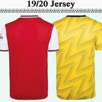 camisas de moda juvenil para hombre al por mayor-2019 2020 Home Red Away Yellow Camisetas de fútbol para hombre Camisetas de manga corta Camisetas de fútbol para jóvenes 19 20 Moda para adultos Uniformes Precio bajo Ventas