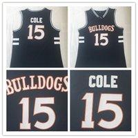 top-jersey-basketball großhandel-High School Jersey 15 J. Cole Stickerei College Jersey Shirt Top Qualität Großhandel Film Basketball trägt Jersey Größe S-2XL